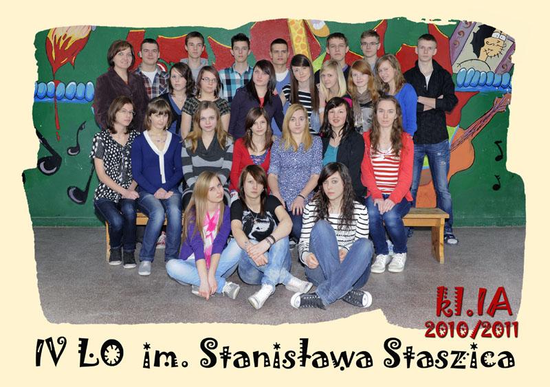 Klasa 1a w roku szkolnym 2010/2011