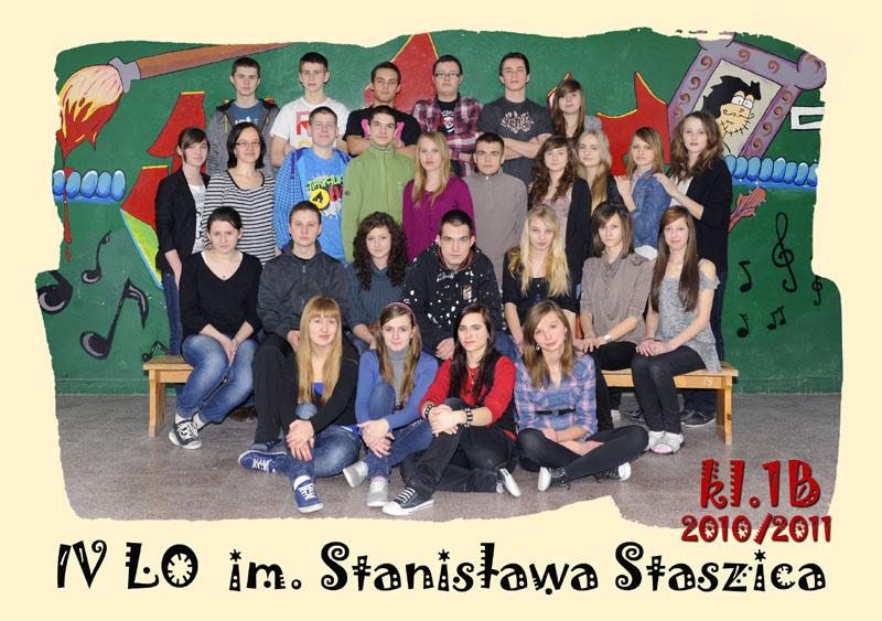 Klasa 1b w roku szkolnym 2010/2011