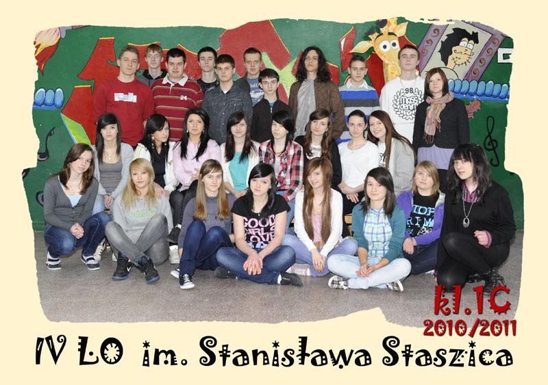 Klasa 1c w roku szkolnym 2010/2011