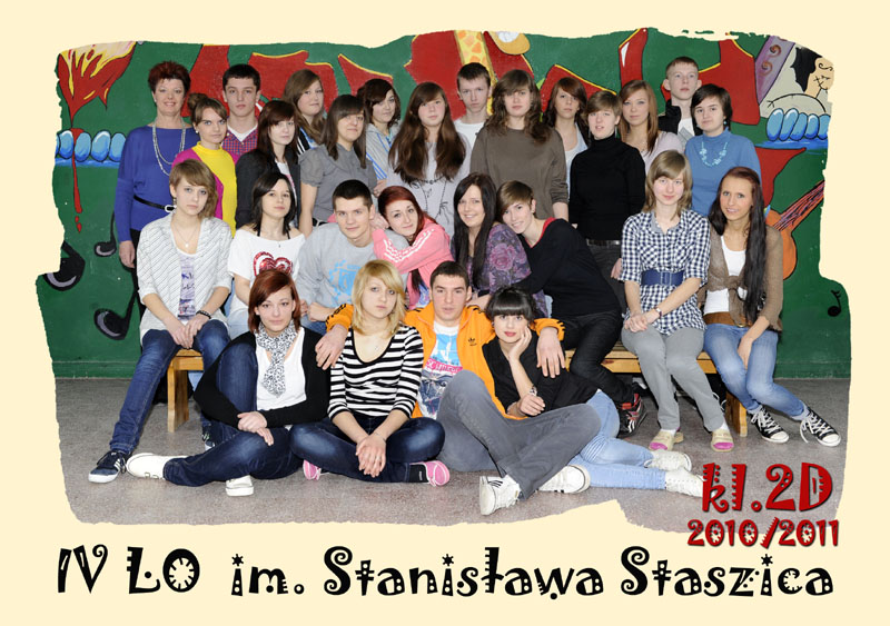 Klasa 2d w roku szkolnym 2010/2011