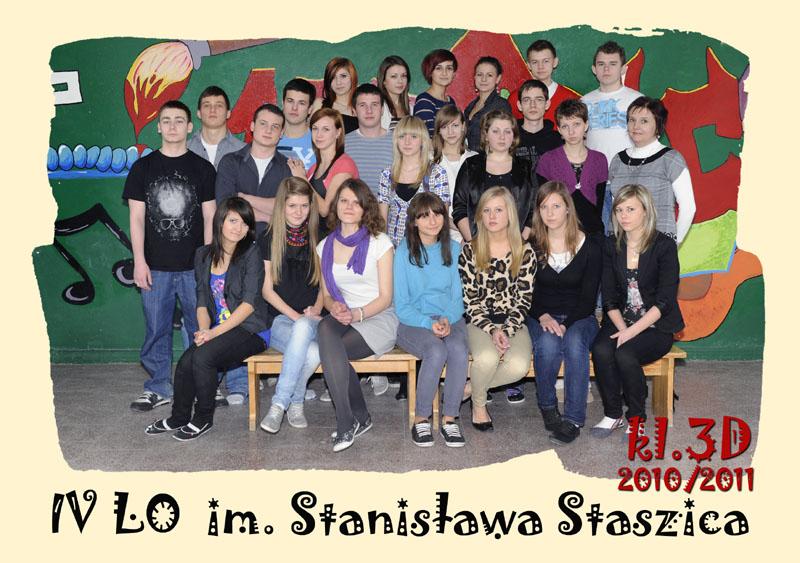 Klasa 3d w roku szkolnym 2010/2011