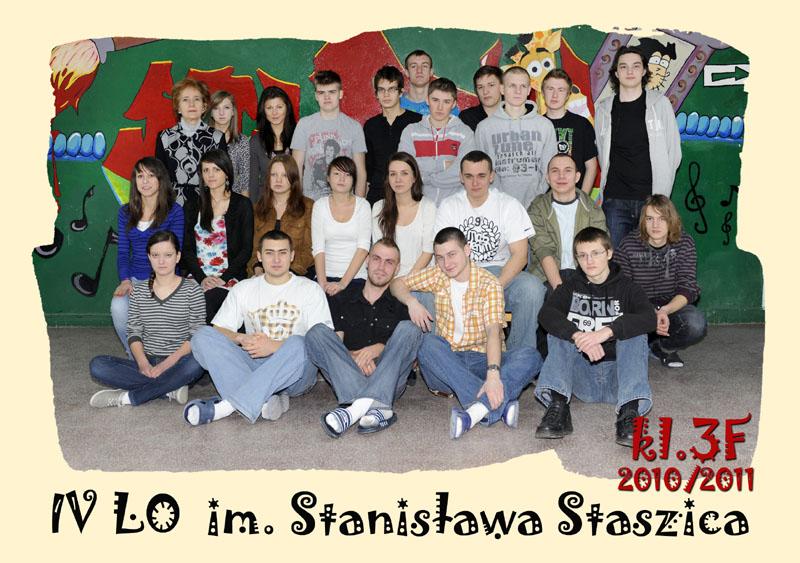 Klasa 3f w roku szkolnym 2010/2011