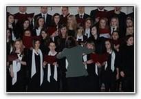 Chór szkolny podczas występu