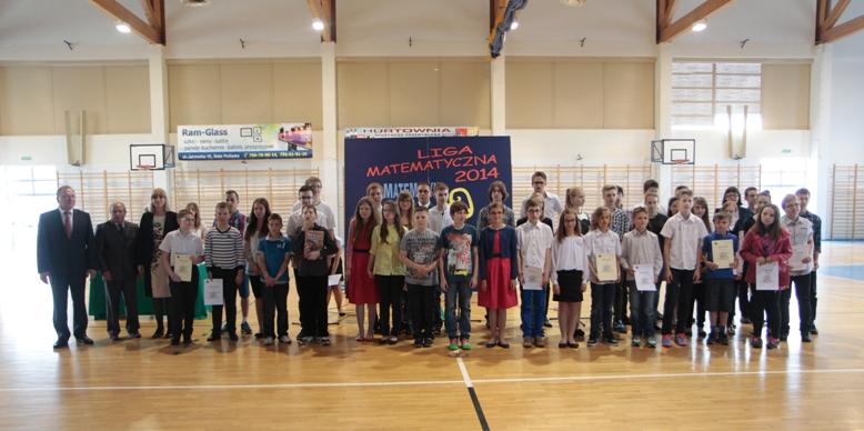 Nagrodzeni uczestnicy Bialskiej Ligi Matematycznej Gimnazjalistów